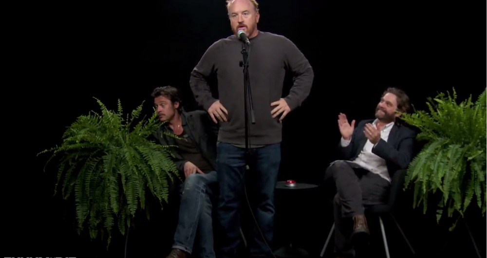 Zach Galifianakis + Brad Pitt + Louis C.K. no novo episódio de Between Two Ferns