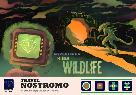 Cartões postais de destinos fictícios na Gallery 1988
