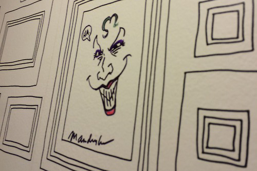 As paredes em quadrinhos da casa de Matt Fraction