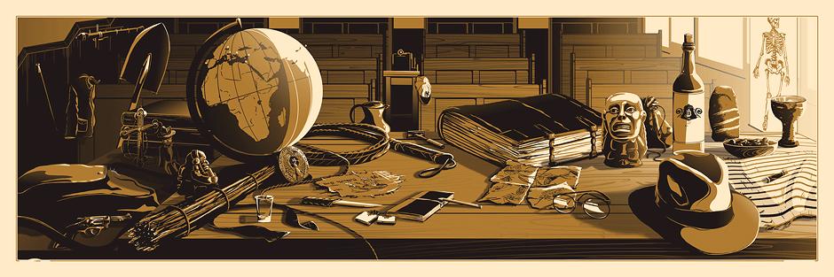 As mesas de Indiana Jones e Tony Stark