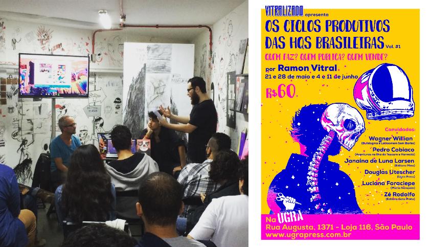 A segunda aula do curso Os Ciclos Produtivos das HQs Brasileiras