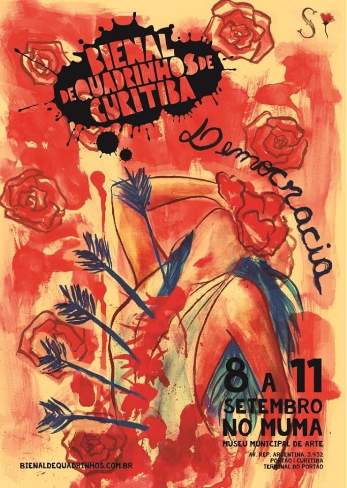 O 4º cartaz da Bienal de Quadrinhos de Curitiba, por Sirlanney