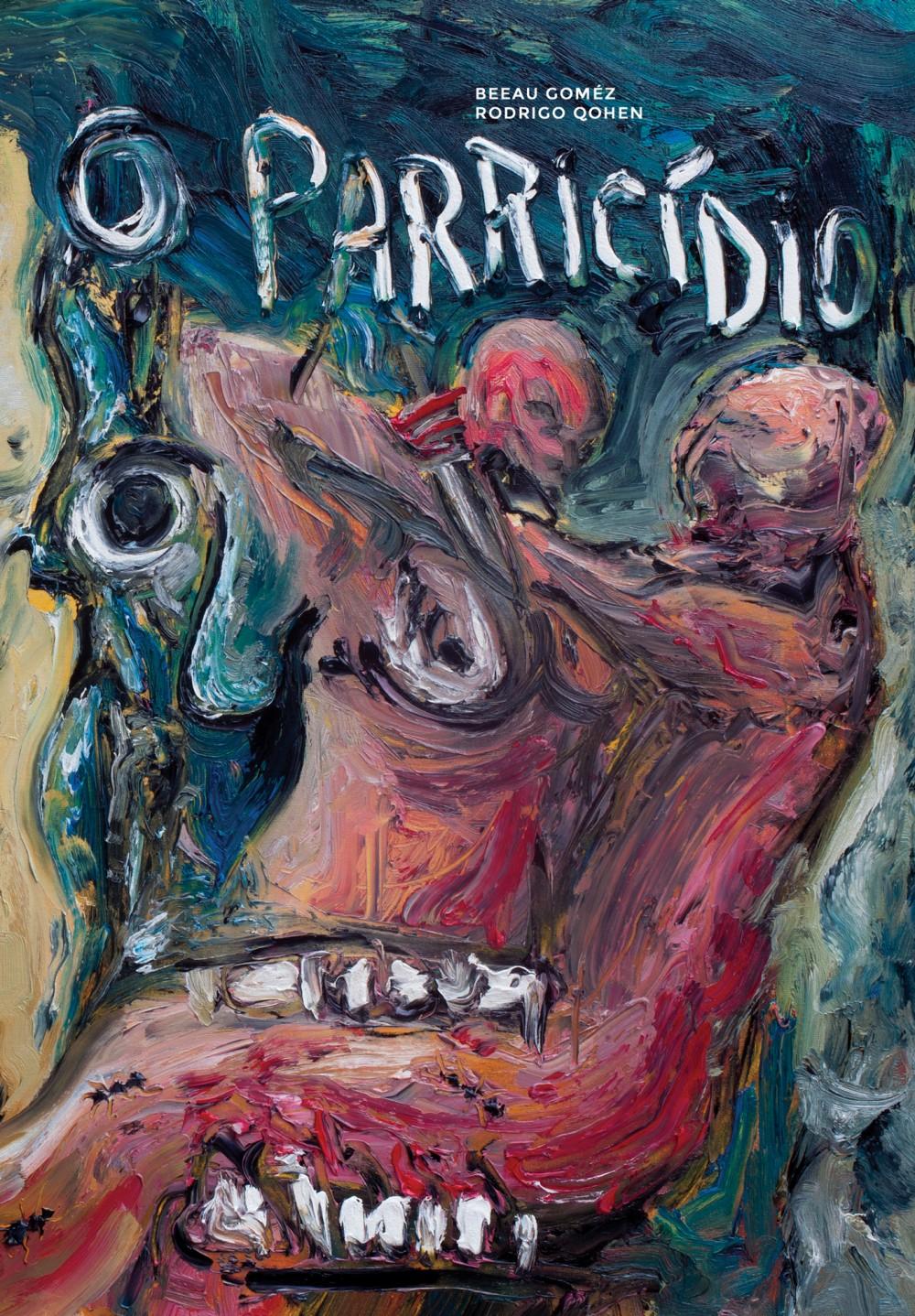 A capa e uma prévia de quatro páginas de O Parricídio, a nova HQ de Beeau Goméz e Rodrigo Qohen