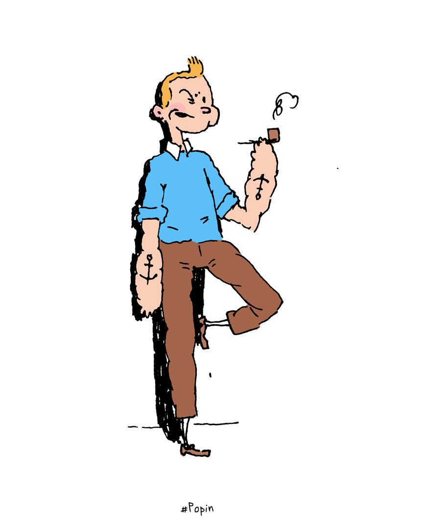 Popeye + Tintin = Popin