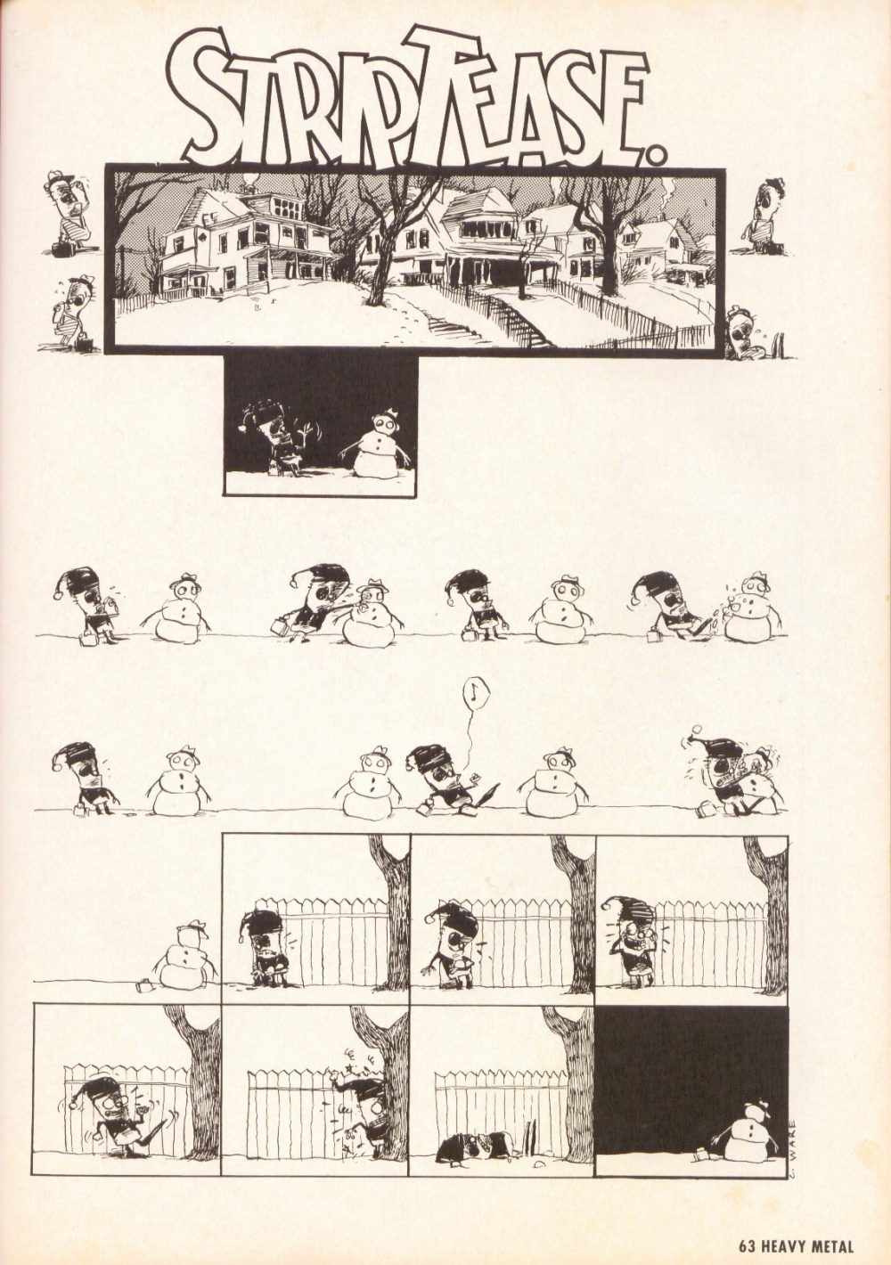 StripTease., por Chris Ware