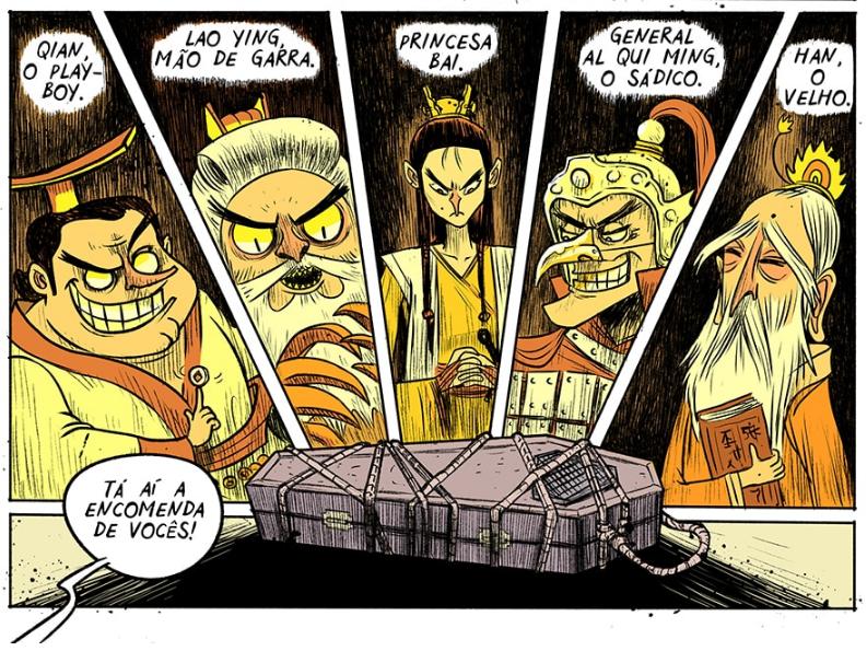 Kung Fu Ganja: está online o primeiro capítulo da nova HQ do Davi Calil