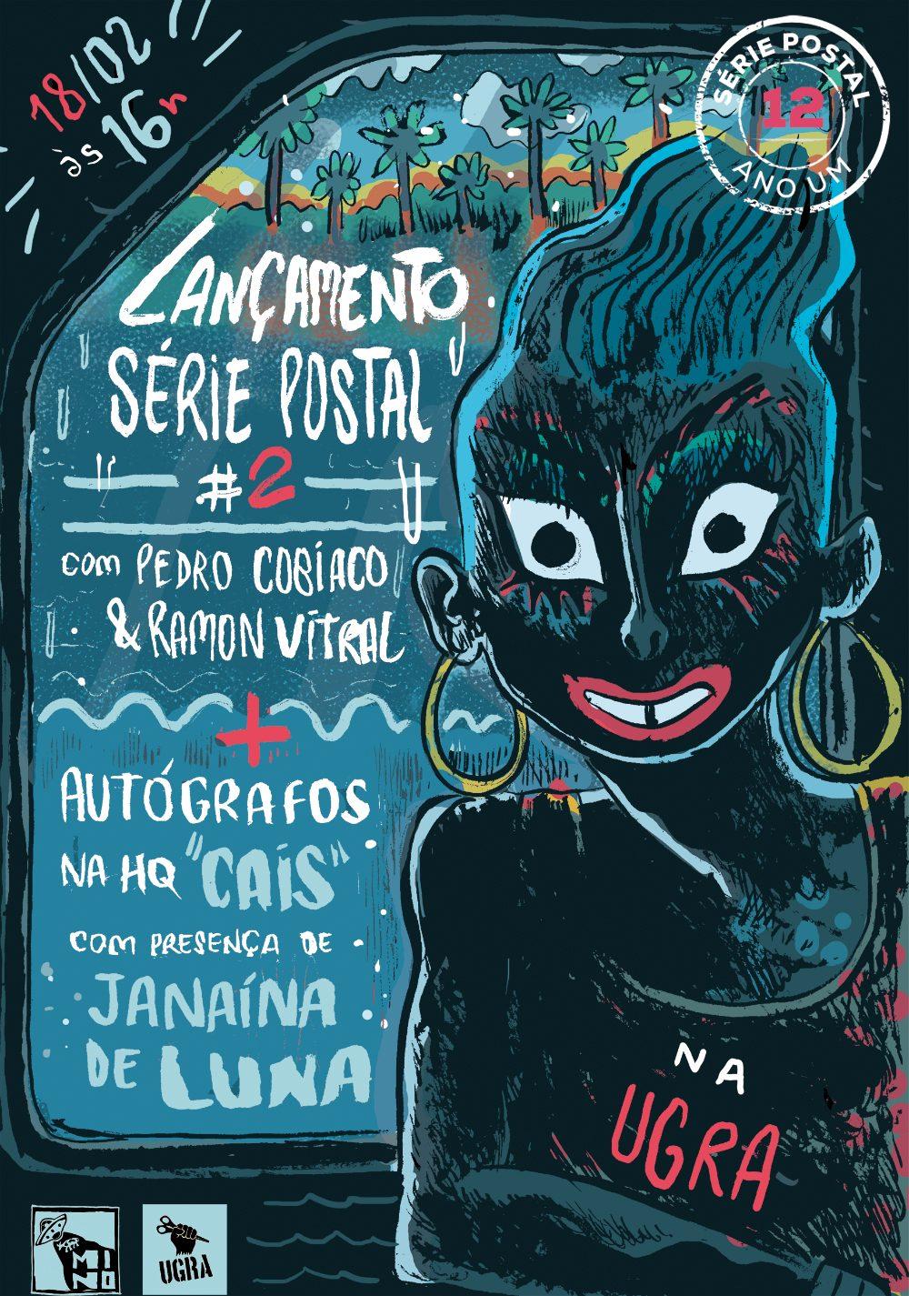 Série Postal: o cartaz produzido por Pedro Cobiaco para o lançamento do segundo número da coleção