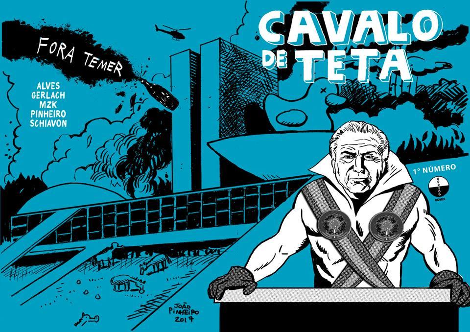 A capa do 1º número da Cavalo de Teta