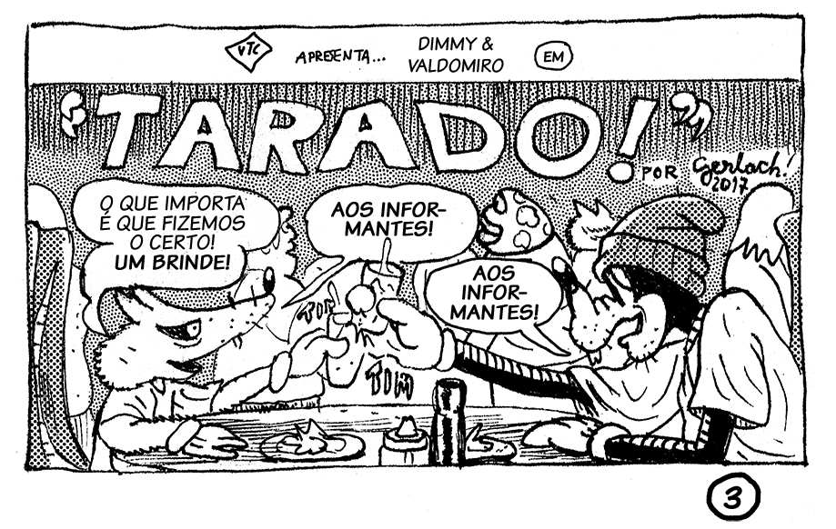 Confira uma prévia de TARADO!, HQ de Diego Gerlach publicada no 7º número da revista Know-Haole