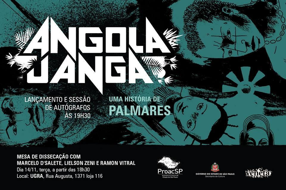 3ª (14/11) é dia de lançamento de Angola Janga – Uma História de Palmares e bate-papo com Marcelo D'Salete na Ugra