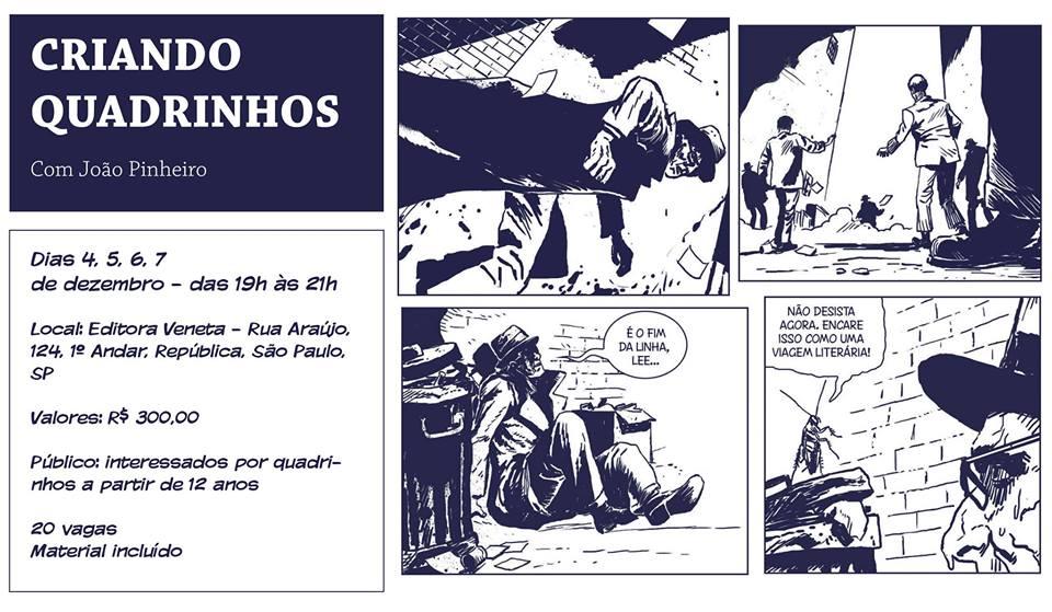 Estão abertas as inscrições para o curso Criando Quadrinhos, com o quadrinista João Pinheiro, em São Paulo