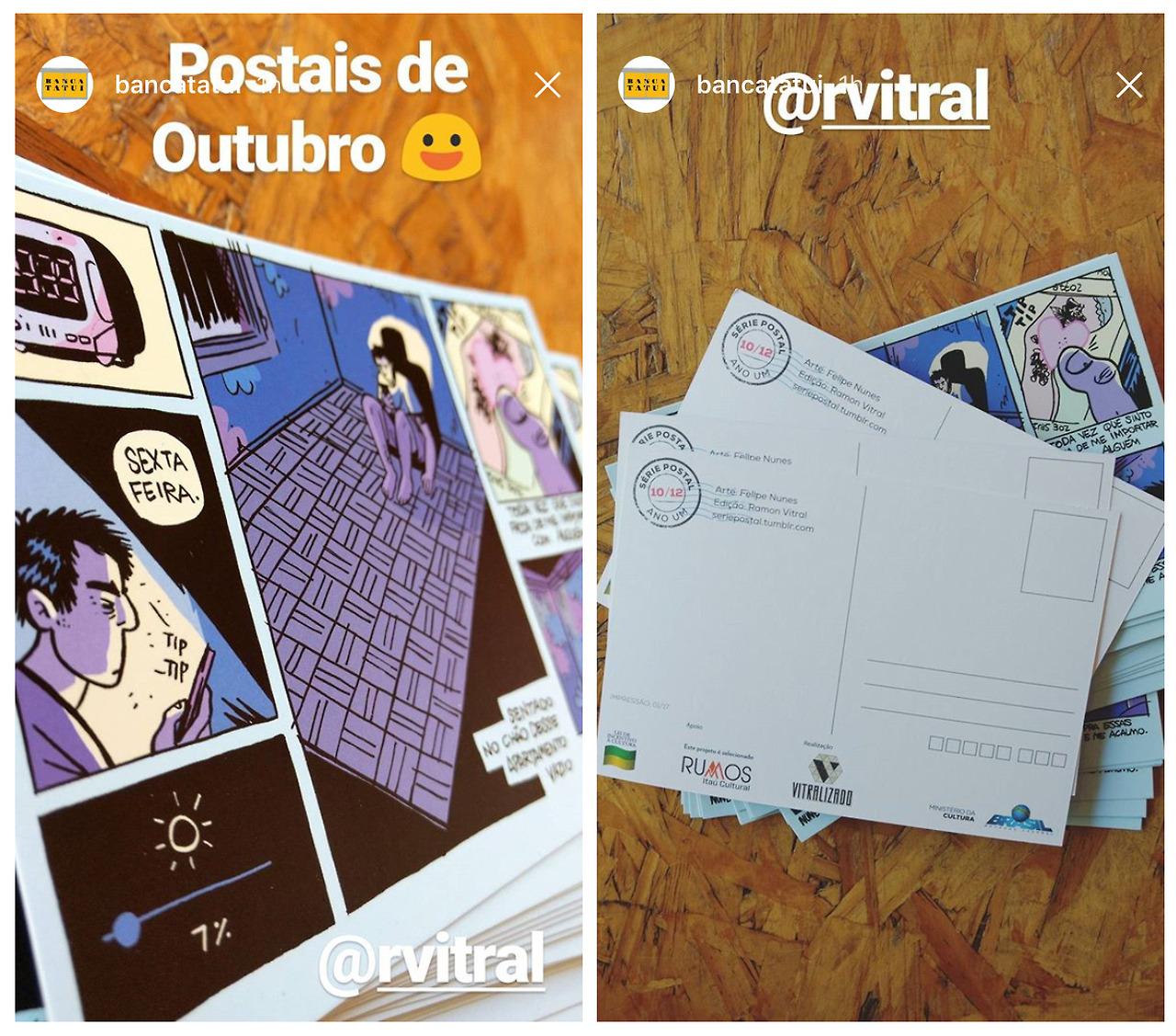 Felipe Nunes e a produção do 10º número da Série Postal