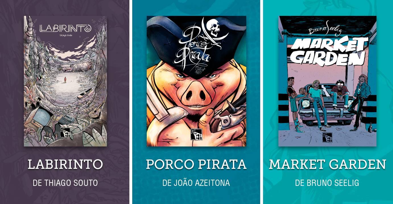 Sábado (2/12) é dia de lançamento de Labirinto, Porco Pirata e Market Garden em São Paulo